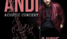 Concert acustic Andi la Hard Rock Cafe