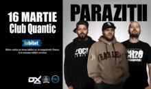 Parazitii concertează pentru prima dată în 2019 pe 16 martie în club Quantic
