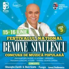 """Festivalul Național Concurs de Muzică Populară """"Benone Sinulescu"""" la Buzău"""