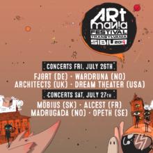 Programul concertelor ARTmania 2019 pe zile