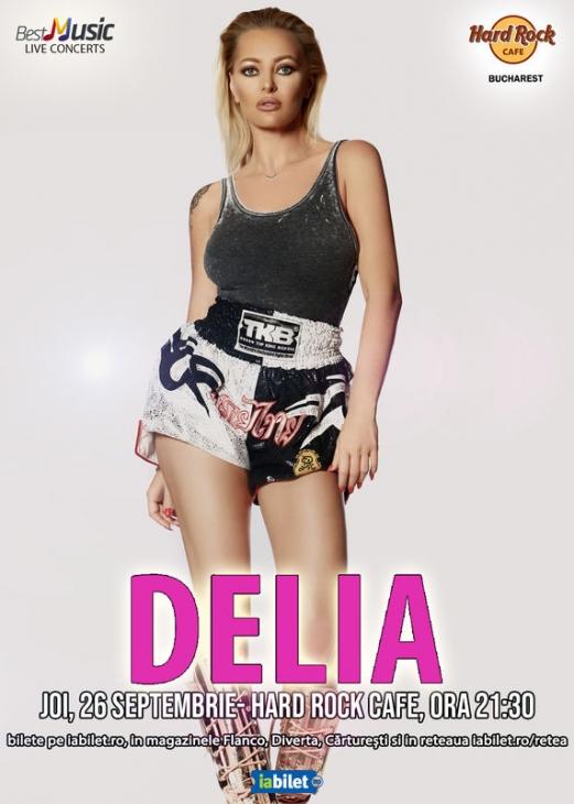Concert Delia la Hard Rock Cafe din București