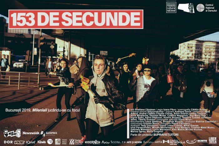 """""""153 de secunde"""" – Manifestul milenialilor pe scena Centrului Național al Dansului din București"""