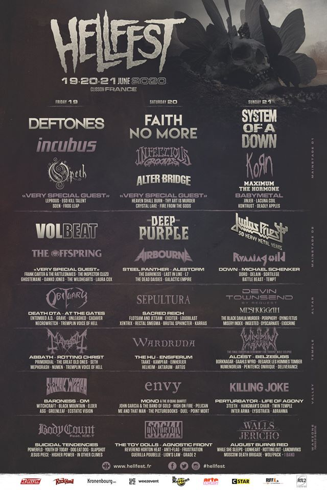 Hellfest Open Air Festival 2020 – line-up complet