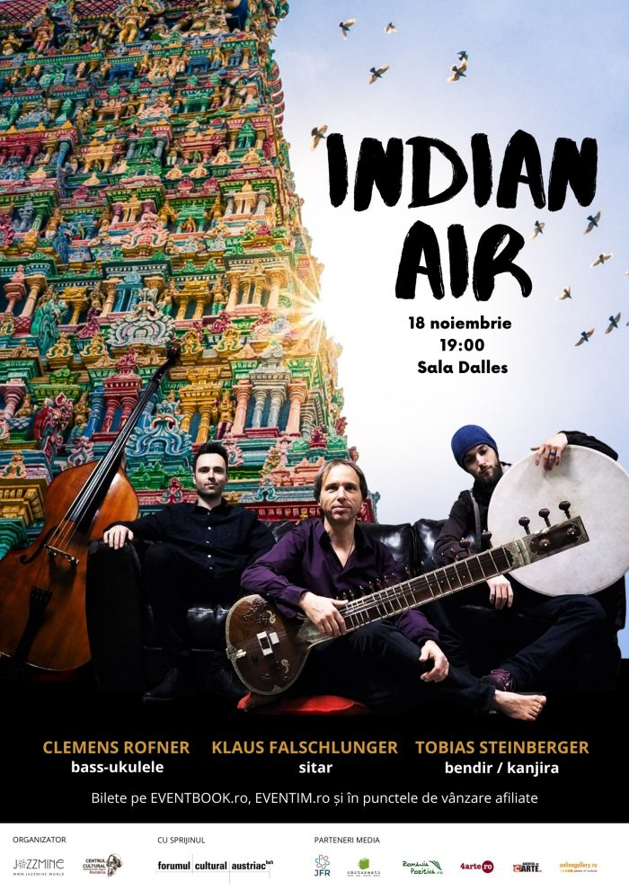 Indian Air – jazz-wold music cu Trio Klaus Falschlunger la Sala Dalles