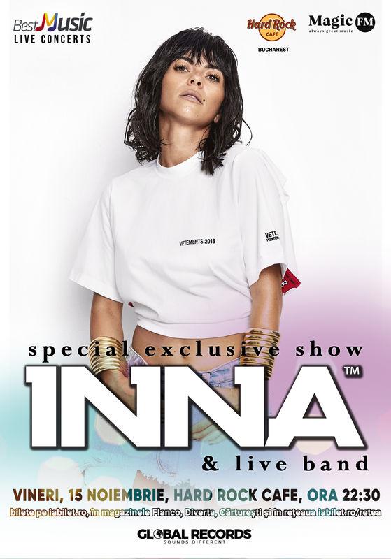 Show special INNA la Hard Rock Cafe, București
