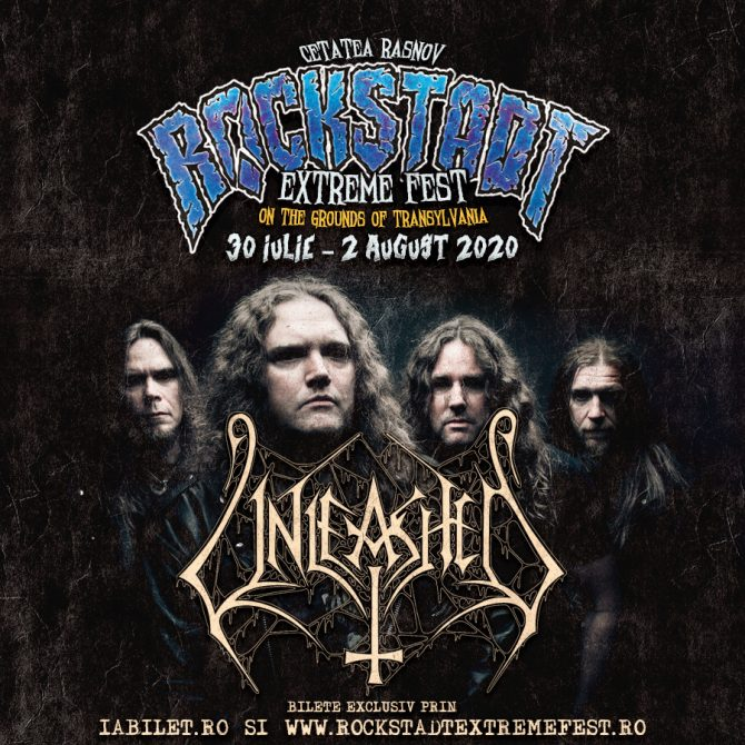 Trupa Unleashed confirmată la Rockstadt Extreme Fest 2020