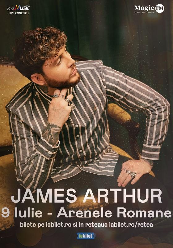 Concert James Arthur la Arenele Romane pe 19 iulie