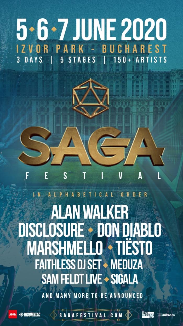 Tiësto – headliner al celui de-al doilea val de confirmări la SAGA Music Festival