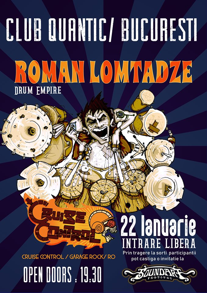 SoundArt Festival Warm-Up Party in Quantic, cu Roman Lomtadze Drum Empire si Cruise Control