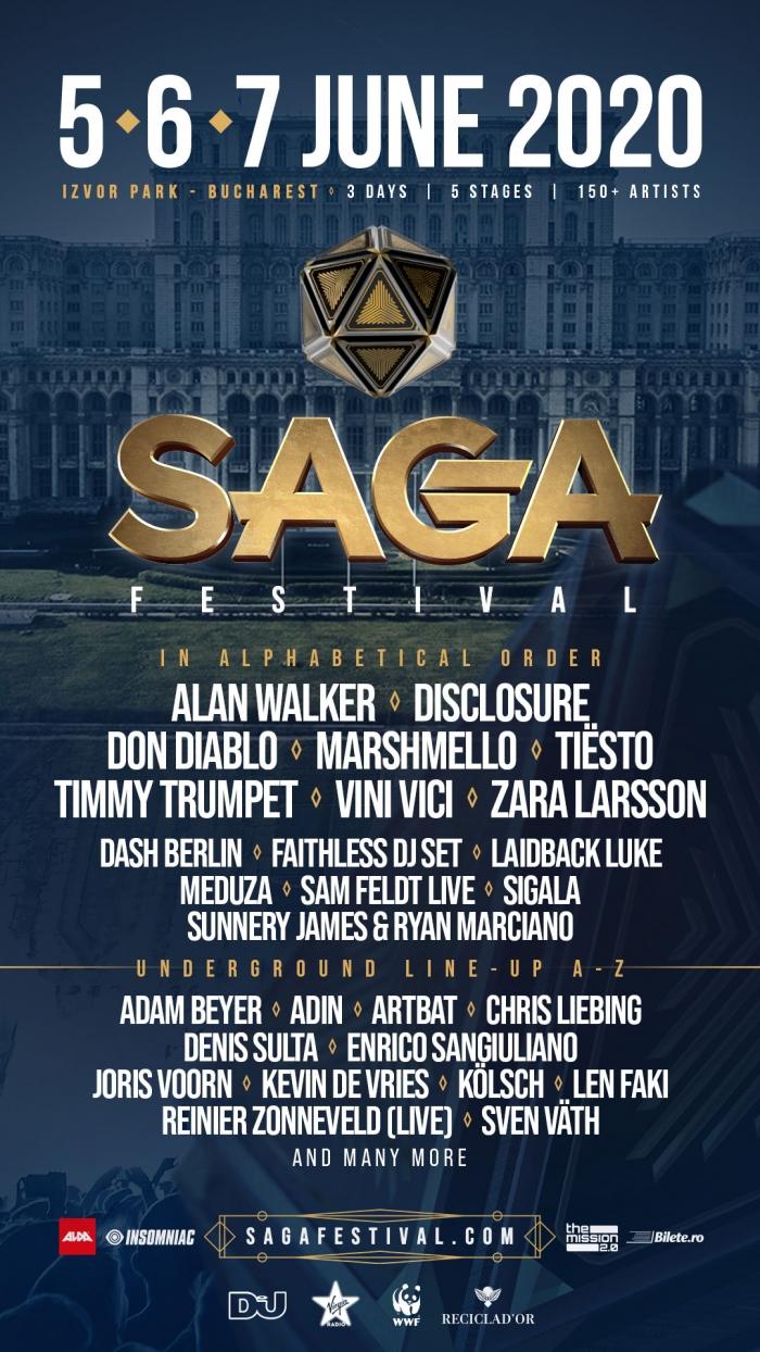 Noi artiști confirmați la SAGA Festival 2020