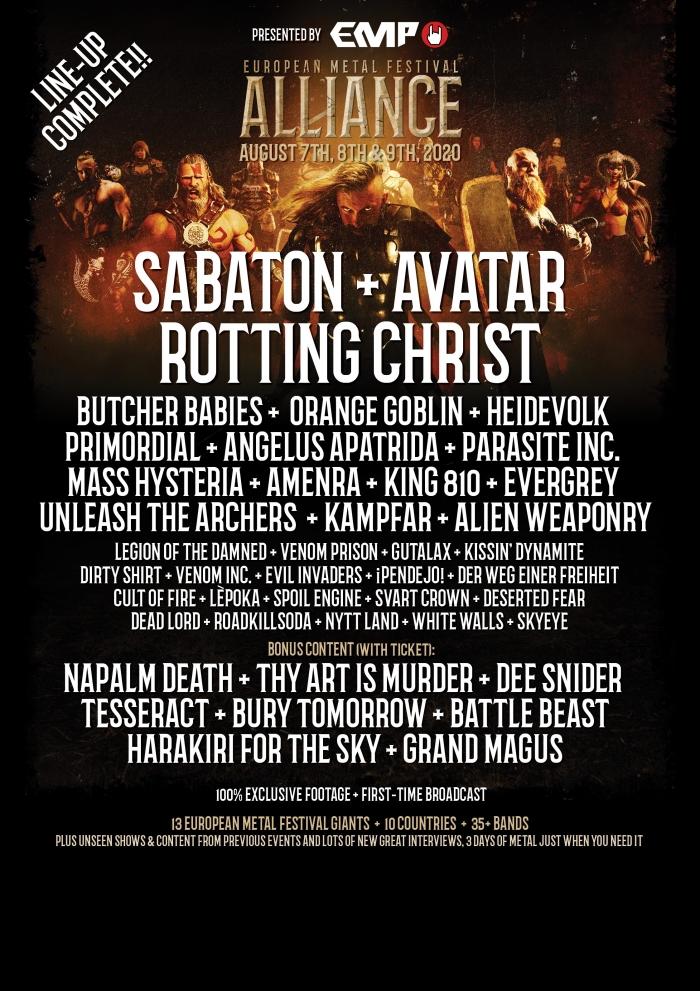 European Metal Festival Alliance 2020 – ARTmania, singurul festival romanesc membru EMFA – Line-up complet cu peste 35 de trupe