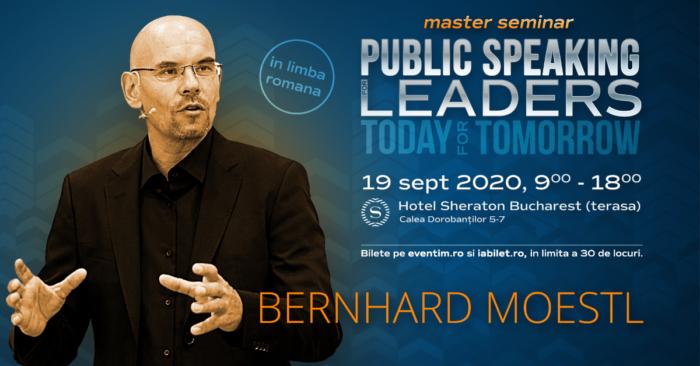"""3 zile pana la master-seminarul de """"Public speaking for leaders"""" sustinut de scriitorul austriac Bernhard Moestl"""