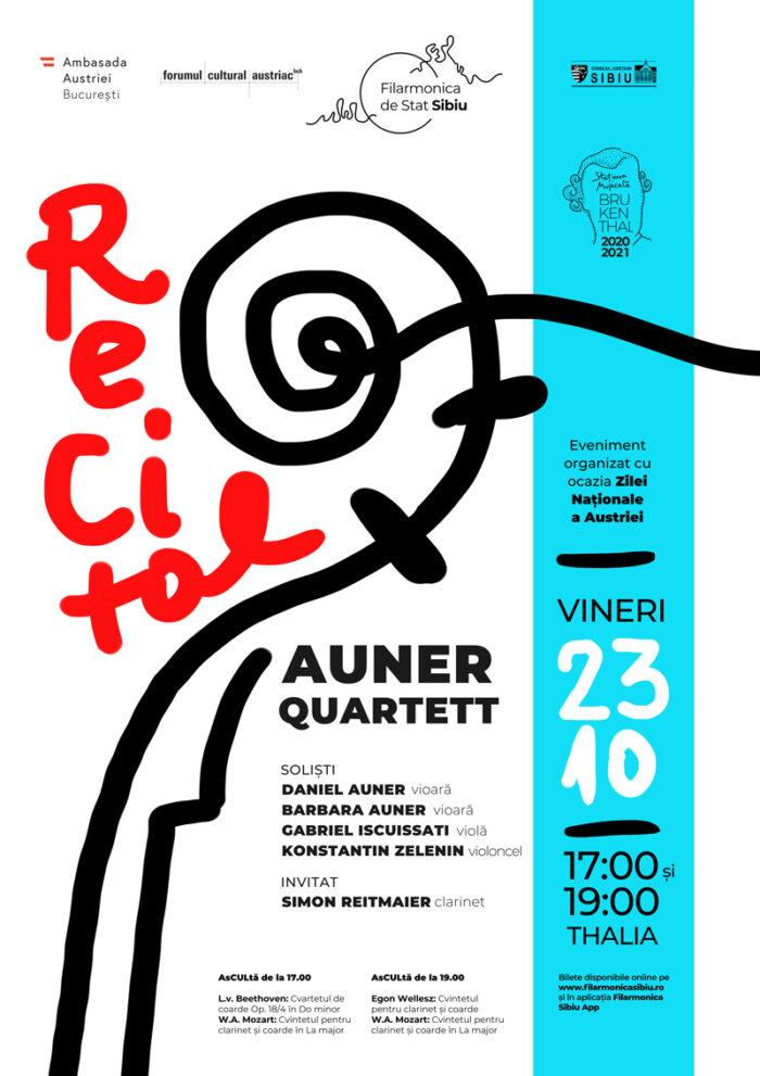 Concert extraordinar Auner Quartett, cu ocazia Zilei Naționale a Austriei, cu Filarmonica Sibiu
