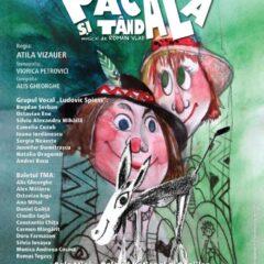 """Comunicat de presă: Spectacolul muzical """"Păcală și Tândală"""", pe 6 și 7 martie la Palatul Național al Copiilor"""