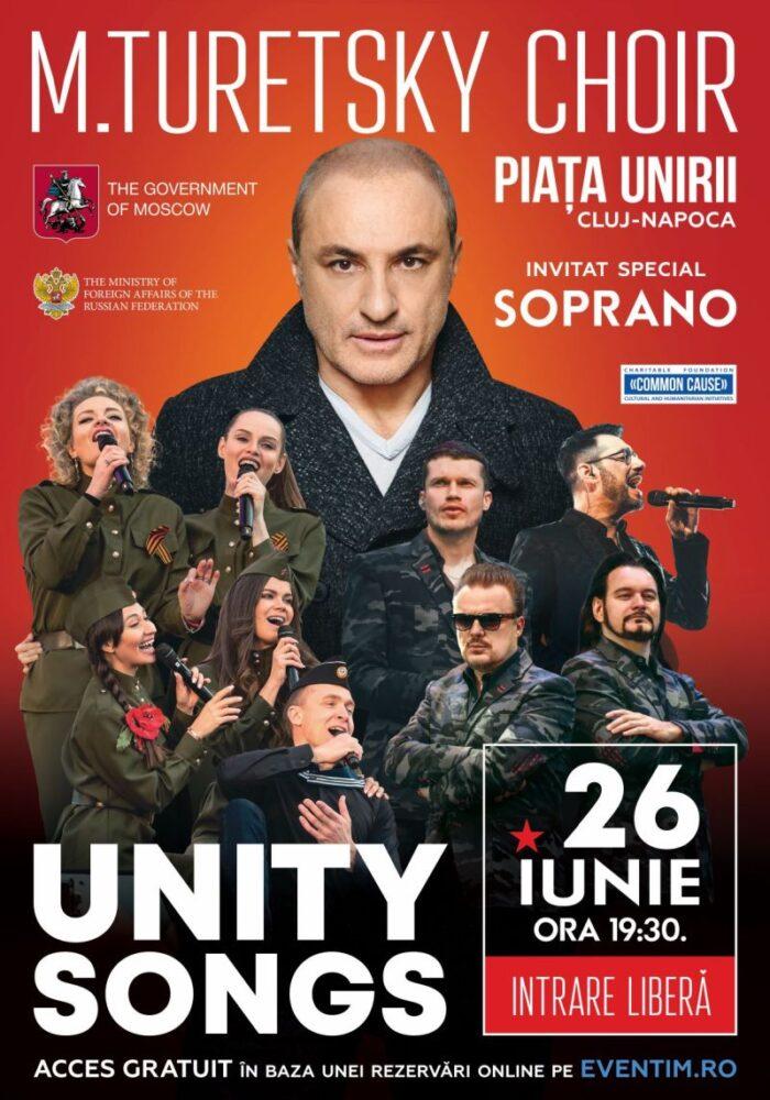 Comunicat de presă: Turetsky Choir și Soprano concertează sâmbătă, 26 iunie, în Piața Unirii din Cluj-Napoca. Acces gratuit.